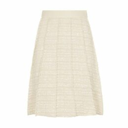 Giambattista Valli Stone Pleated Bouclé Tweed Skirt