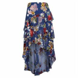 Alice + Olivia Mariel Floral Devoré Chiffon Skirt