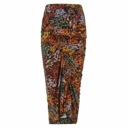 Preen By Thornton Bregazzi Floral-print Stretch-jersey Midi Skirt