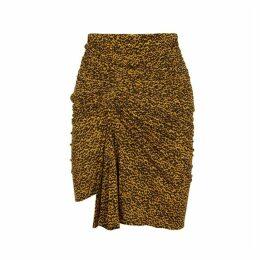 Isabel Marant Jominy Printed Stretch-knit Mini Skirt