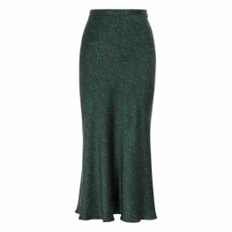 Bec & Bridge Animale Fever Leopard-print Silk Midi Skirt