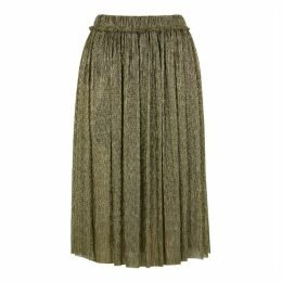 Isabel Marant Étoile Beatrice Gold Lamé Midi Skirt