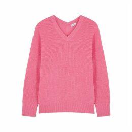 Filippa K Pink Knitted Alpaca Wool Jumper
