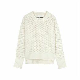 Jil Sander Cream Open-knit Wool Jumper