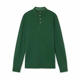Hackett Garment-dyed Cotton Long-sleeved Polo Shirt