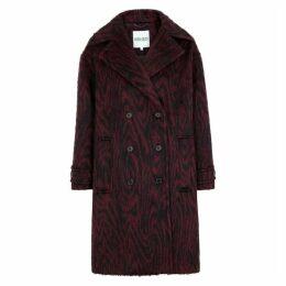 Kenzo Burgundy Printed Felt Coat