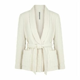 RAQUEL ALLEGRA Cream Textured Cotton-blend Jacket