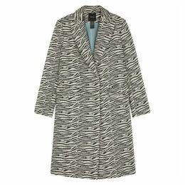 Smythe Zebra-jacquard Cotton-blend Coat