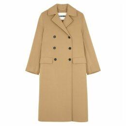 Jil Sander Lucien Camel Double-breasted Cashmere Coat