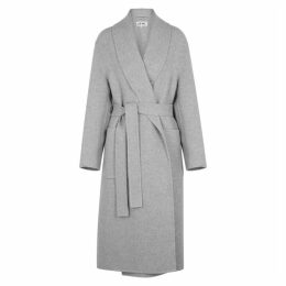 Loewe Grey Mélange Cashmere Coat