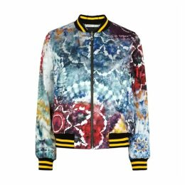 Alice + Olivia Lonnie Reversible Satin Bomber Jacket