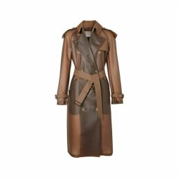 Burberry Leather Detail Showerproof Trench Coat