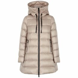 Moncler Suyen Stone Quilted Shell Coat