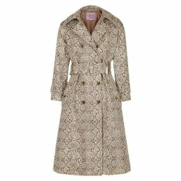 ALEXACHUNG Faux Snake Trench Coat
