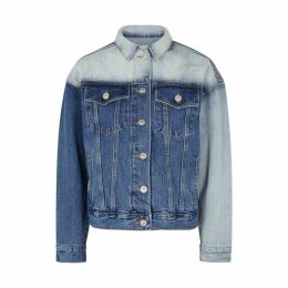PushBUTTON Blue Two-tone Denim Jacket