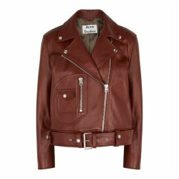 Acne Studios Rust Leather Biker Jacket