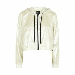 Koral Activewear Portal White Iridescent Shell Jacket