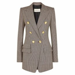 Alexandre Vauthier Checked Double-breasted Wool Jacket