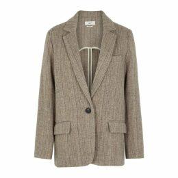 Isabel Marant Étoile Charly Herringbone Wool Blazer