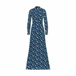 Ivy & Oak Maxi Dress With Floral Print And Stand Up Collar