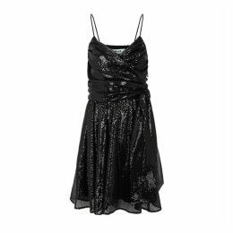 MSGM Black Sequin Mini Dress