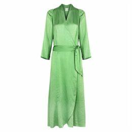 Forte forte Mint Silk Cloqué Wrap Dress