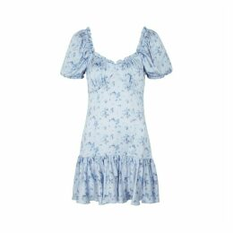 LoveShackFancy Catalina Floral-print Silk Mini Dress