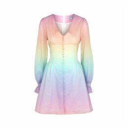 Olivia Rubin Plum Degradé Cotton Mini Dress