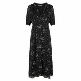 Gestuz Cindy Black Printed Chiffon Dress