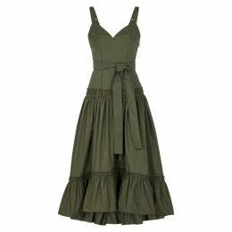 Proenza Schouler Army Green Cotton Dress