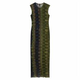 RAQUEL ALLEGRA Tie-dye Cotton-mesh Midi Dress