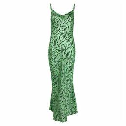 Olivia Rubin Lia Printed Silk Dress