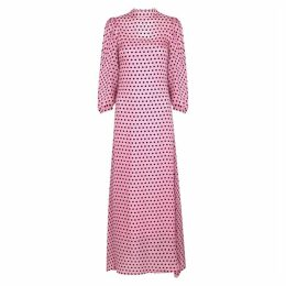 Olivia Rubin Elizabeth Polka-dot Silk Maxi Dress