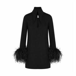 16 Arlington Michelle Feather-trimmed Mini Dress