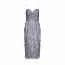 Aidan Mattox Midi Length Sequin Gown