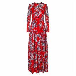 Philosophy Di Lorenzo Serafini Floral-print Chiffon Maxi Dress