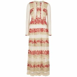 RED Valentino Floral-print Chiffon And Point D'esprit Dress