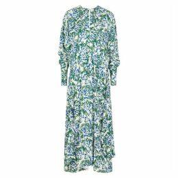 Victoria, Victoria Beckham White Printed Crepe Dress