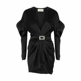 Alexandre Vauthier Black Silk-blend Mini Dress