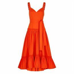 Proenza Schouler Blood Orange Cotton Midi Dress