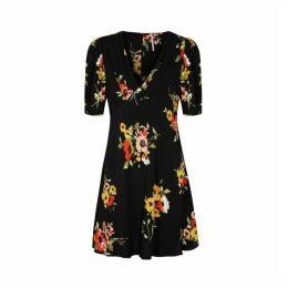 Free People Neon Garden Floral-print Mini Dress