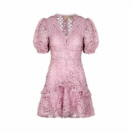 KEEPSAKE Lovable Lilac Guipure Lace Mini Dress