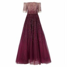 Pamella Roland Sequin-embellished Tulle Gown