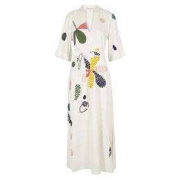 Tory Burch Ivory Embroidered Dress