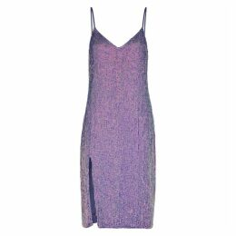 Retrofête Denisa Purple Sequin Midi Dress
