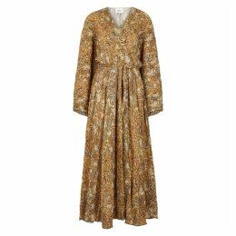 Nanushka Chul Python-print Midi Dress