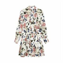 Erdem Quentin Floral-print Poplin Dress