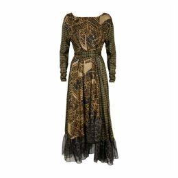 Preen By Thornton Bregazzi Josephine Printed Silk-blend Midi Dress