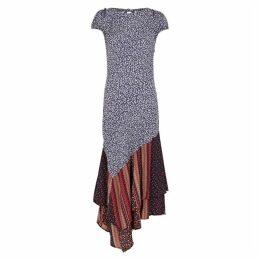 Free People Aurelia Printed Panelled Dress