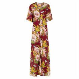 Olivia Von Halle Delphine Paradise Georgette Maxi Dress
